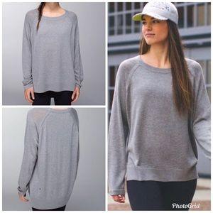 Lululemon Post Savasana Pullover  Size 6 Gray